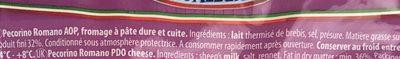Pecorino romano DOP - Ingrédients