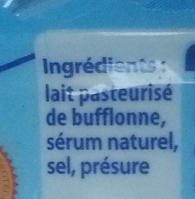 Mozzarella di Bufala Campana (22,9 % MG) - Ingredients