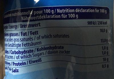 Morarella - Informations nutritionnelles