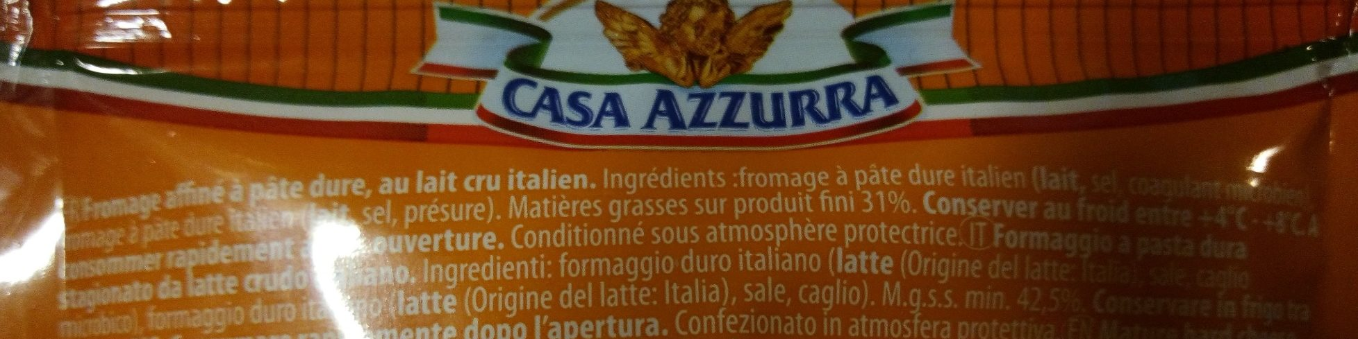Gran Casa Azzurra - Ingredients - fr