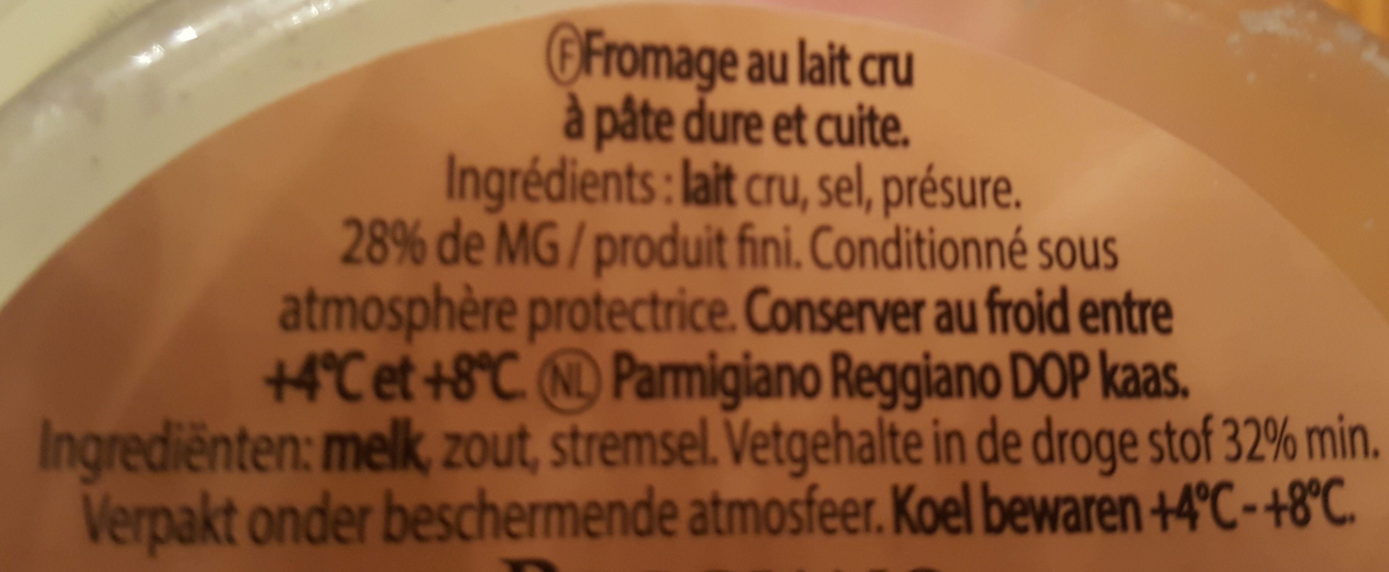 Parmigiano Reggiano Pétales - Ingrediënten