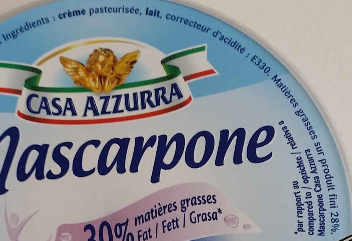 Mascarpone - Ingrediënten