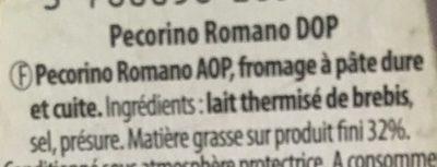 Pecorino romano - Ingrediënten - fr