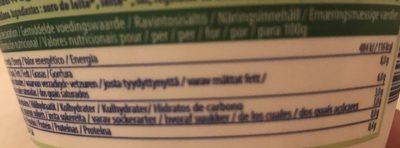 Fromage bio ricotta Casa azzurra - Nutrition facts - it