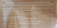 Parmigiano Reggiano DOP Bio - Informations nutritionnelles - fr