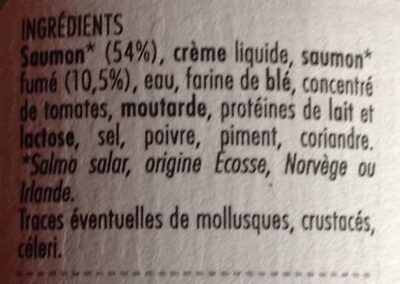 Rillettes de saumon - Ingrediënten - fr