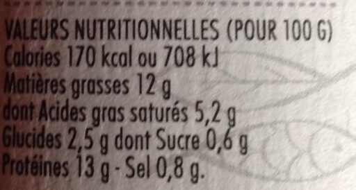 Rillettes de saumon - Voedingswaarden - fr