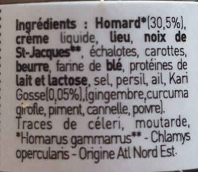 Rillette De Homard Au Kari Gosse - Ingredients
