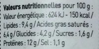 Rillette De Homard Au Kari Gosse - Nutrition facts