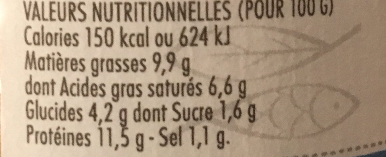 Rillettes de homard - Voedingswaarden - fr