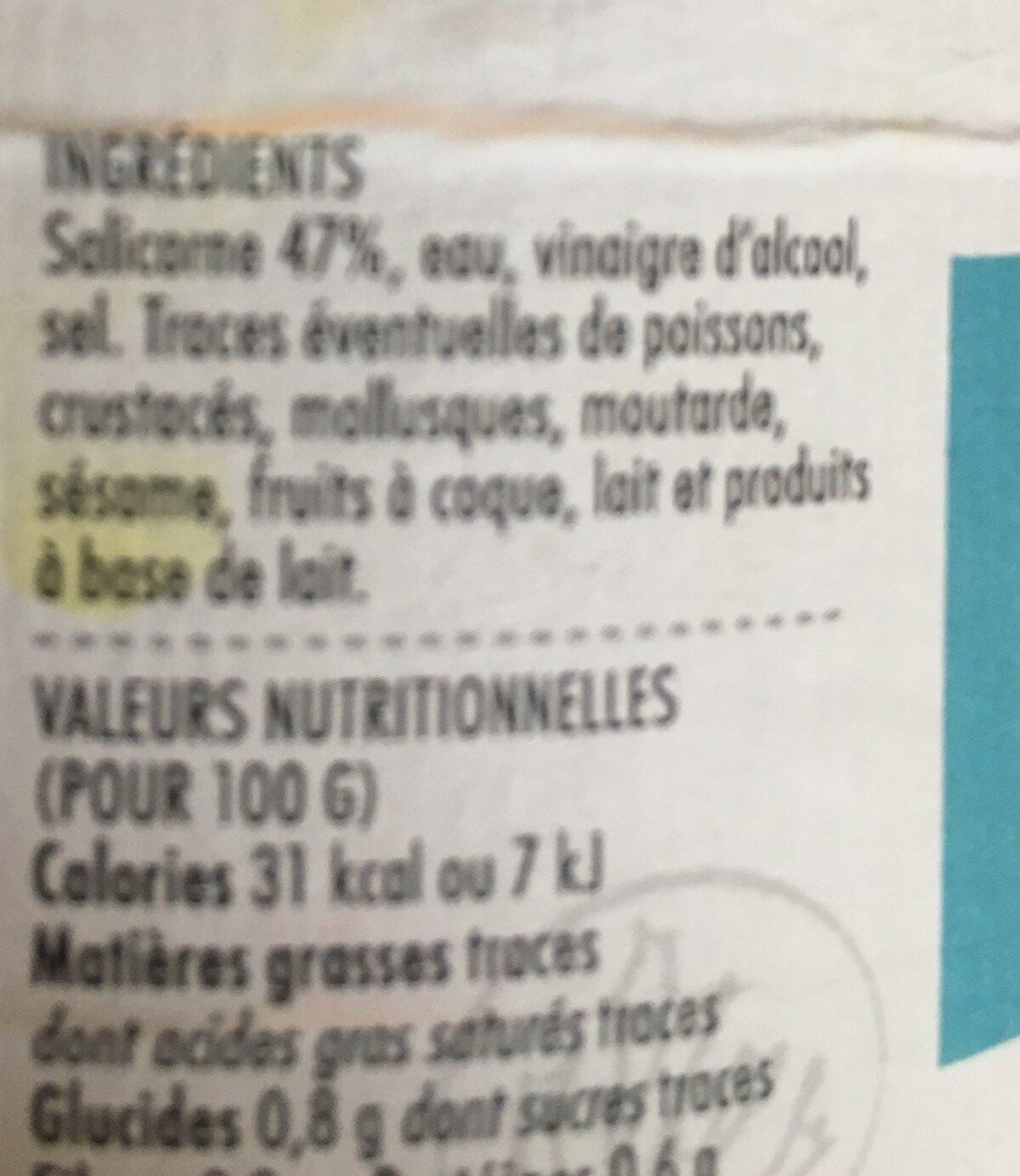 Salicorne au vinaigre - Ingrédients - fr