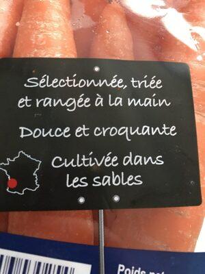 La Carotte des hautes Landes de Gascogne - Ingrédients