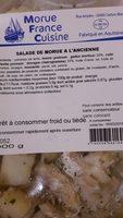 Salade de morue à l'ancienne - Ingrédients - fr