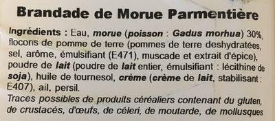 Brandade de morue parmentière - Ingrediënten - fr