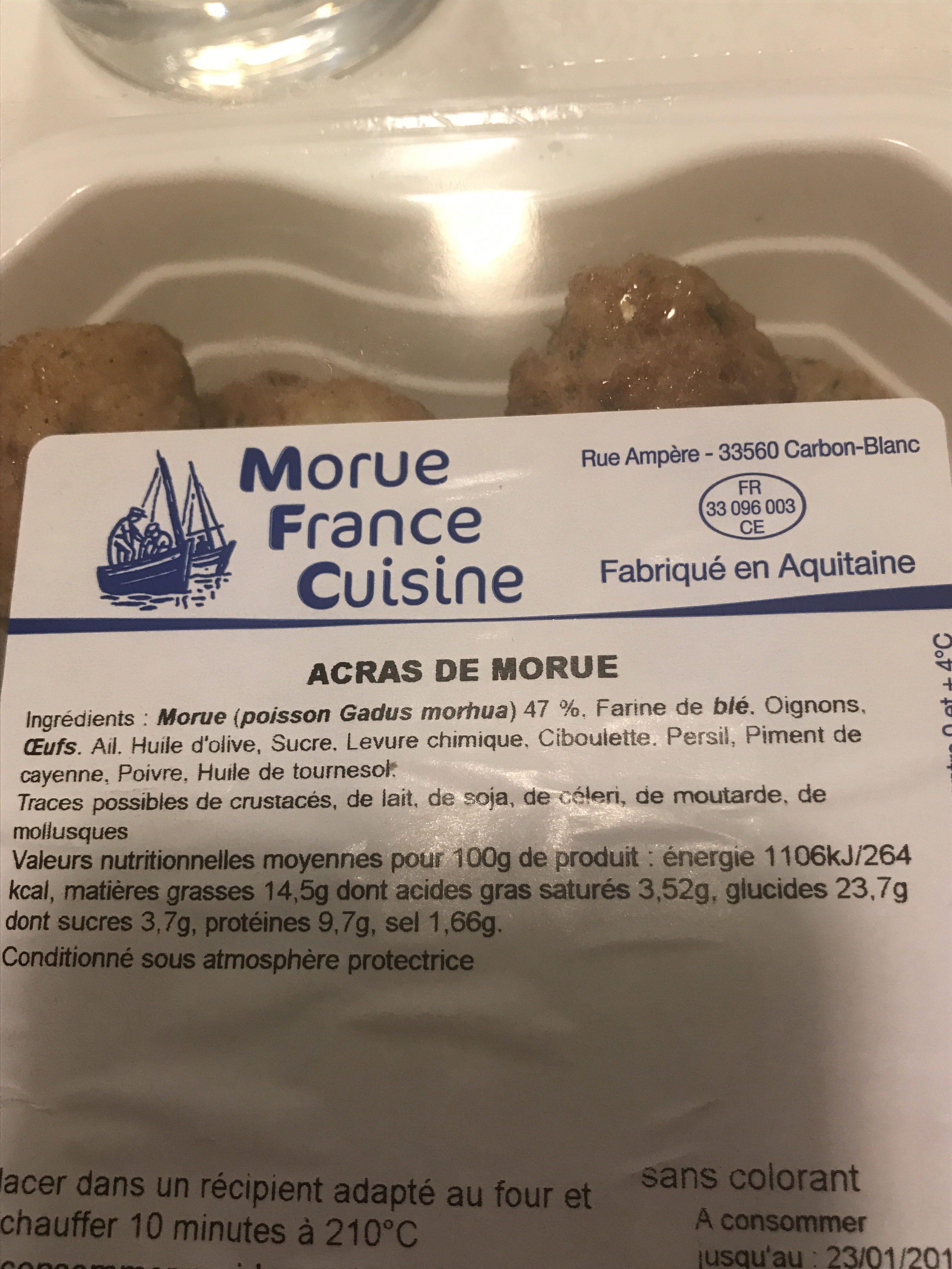 Acras de Morue - Ingrédients - fr