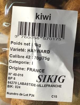 Kiwis - Voedingswaarden - fr