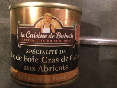 Spécialité de bloc de foie gras de canard aux abricots - Product