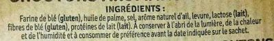 Croûtons aromatisés à l'ail - Ingredients