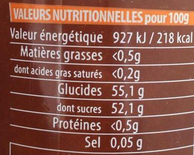 Confiture extra à l'abricot - Nutrition facts