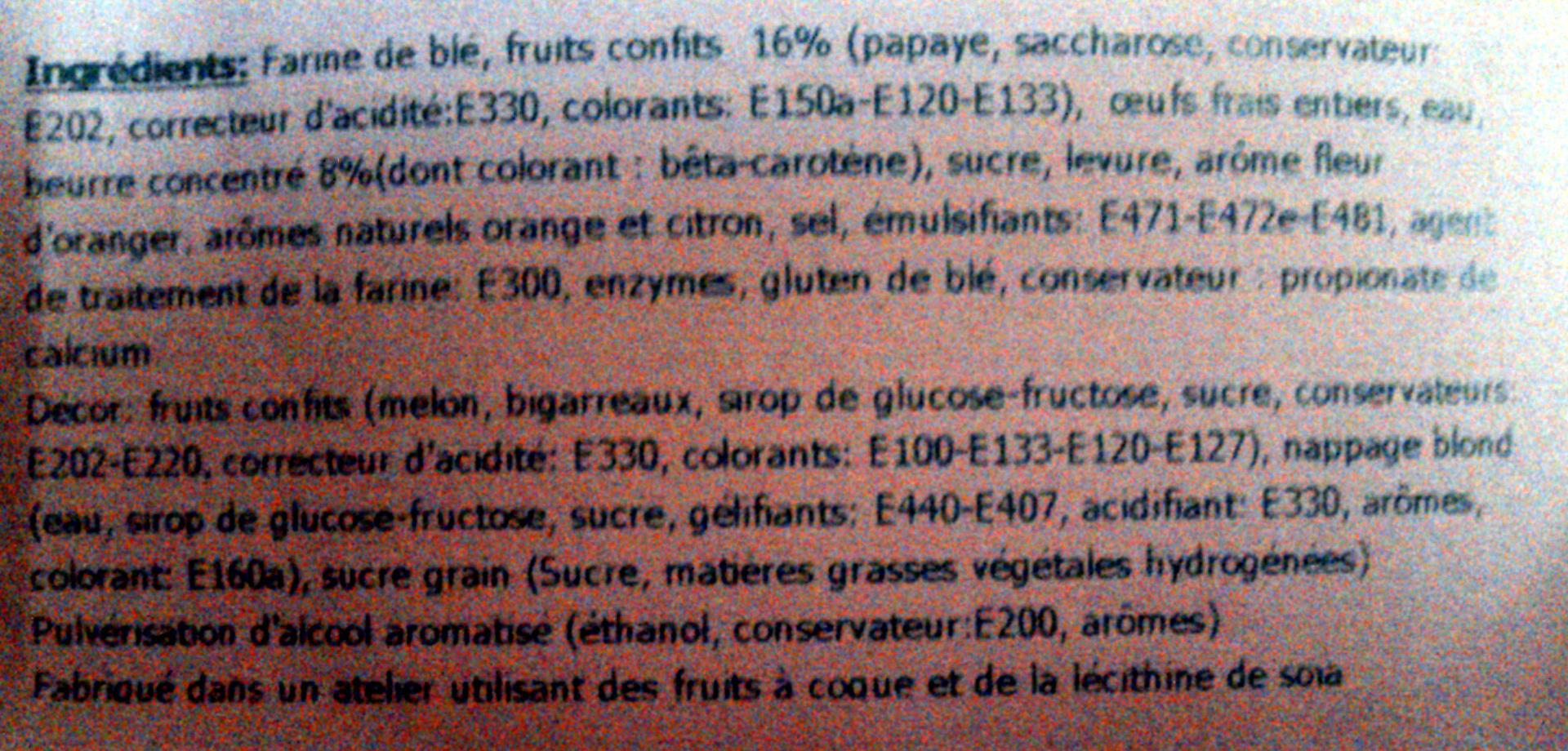 Couronne des rois aux fruits confits - Ingredients