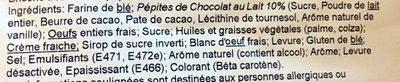 Brioche Tressée Chocolat - Ingredients
