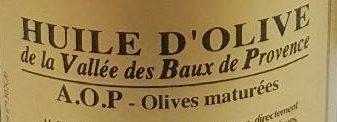 Huile d'olive de la vallée des baux de Provence - Ingrédients - fr
