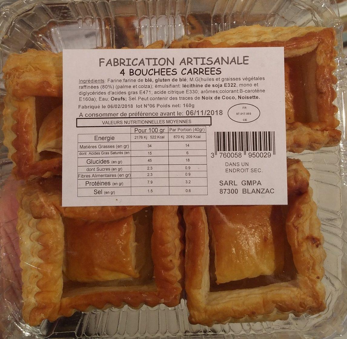 4 bouchées carrées - Product - fr