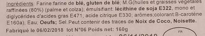 4 bouchées carrées - Ingrediënten - fr
