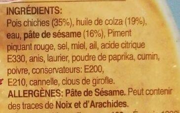 Caviar de Lentilles - Ingredients - fr