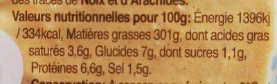 Houmous Ras El Hanout - Voedingswaarden - fr