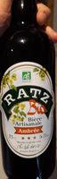 Bière artisanale ambrée - Product