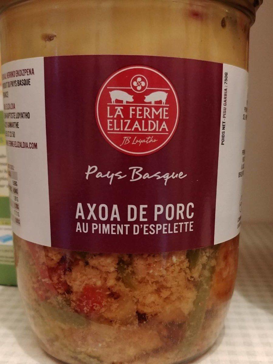 Axoa de porc au piment d'espelette - Product