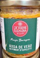 Axoa de veau au piment d'Espelette - Produit