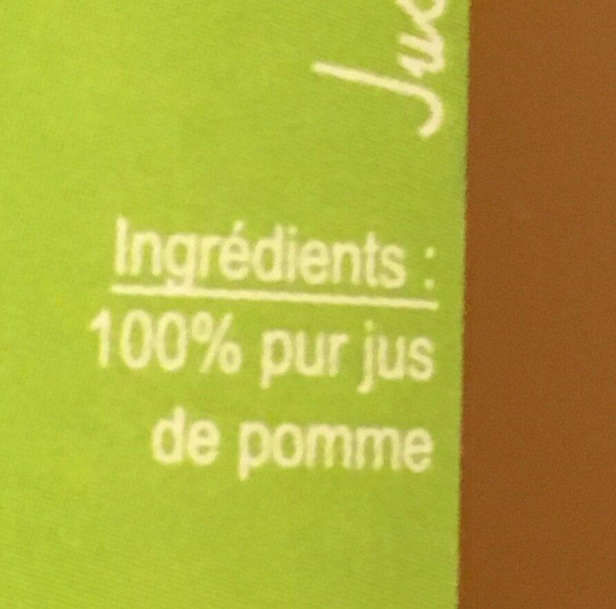 100% Pur jus de pomme brut de pressoir - Ingrediënten - fr