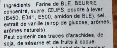 Palets - Ingredienti - fr