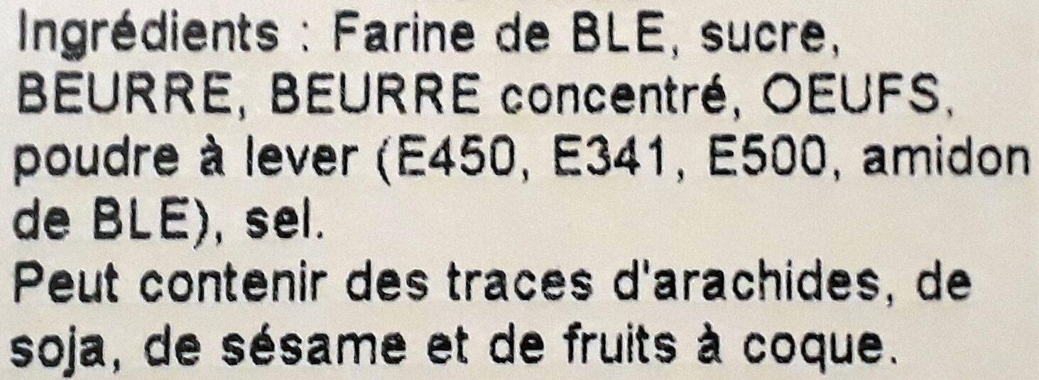 Galettes - Ingredients - fr