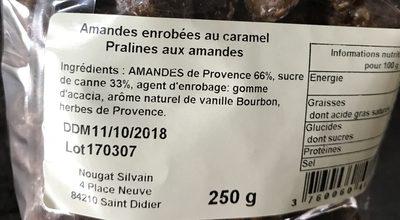 Amandes enrobées au caramel pralines aux amandes - Ingredients