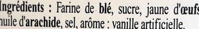 Gaufres - Ingrédients - fr