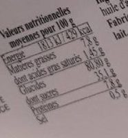 Gaufres - Informations nutritionnelles - fr