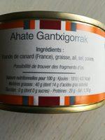 Rillettes pur canard - Ingrediënten