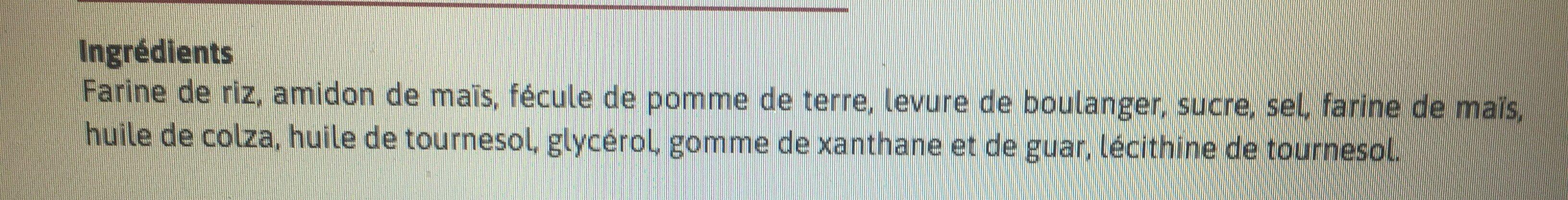 Boule Pain Blanc SG - Ingrédients - fr
