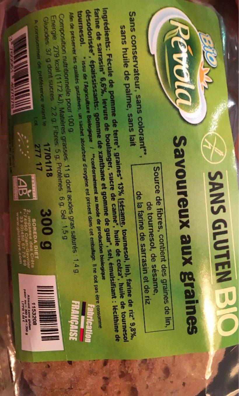 Savoureux Aux Cereales Tranche - Produit