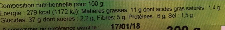 Savoureux Aux Cereales Tranche - Informations nutritionnelles