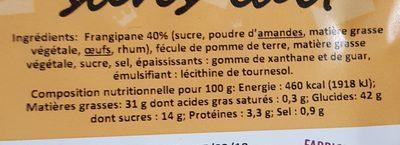 Galette Frangipane Sans Lait 420G - Ingrediënten