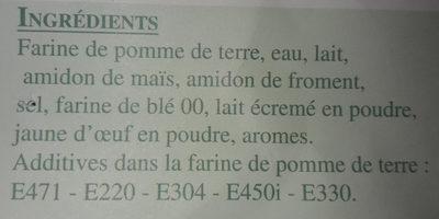 Gnocchis des grands goulets - Ingrediënten - fr