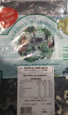Ravioles au Beaufort - Product