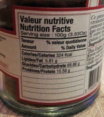 Piment Naga - Informations nutritionnelles - fr