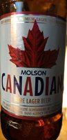 Molson Canadian bière Lager beer - Produit