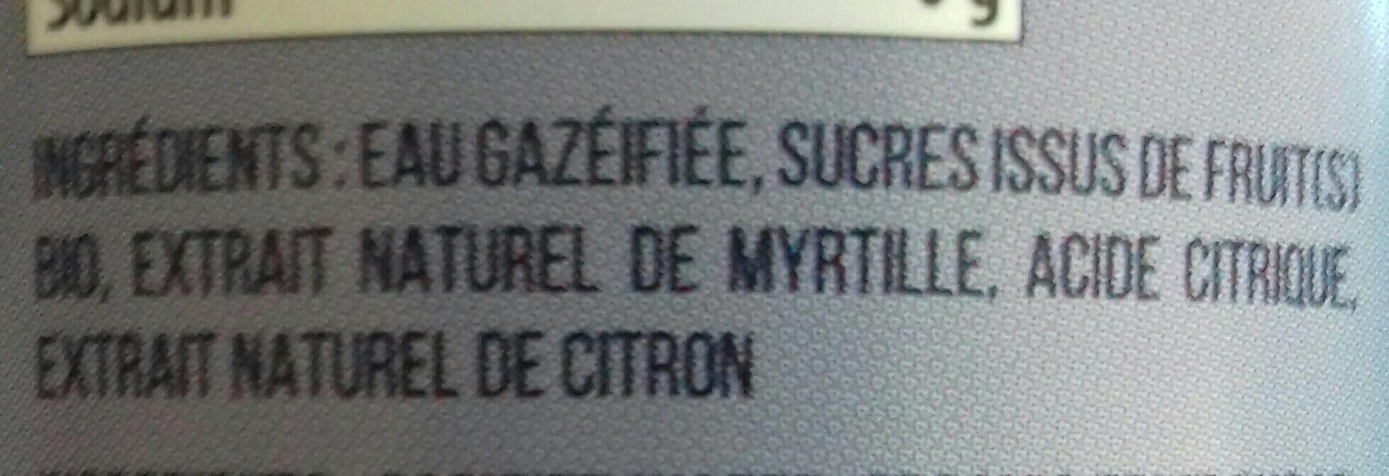 Limonade Délicieuse A La Myrtille - Ingredienti - fr