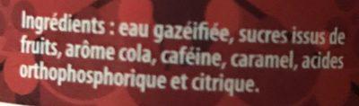 Colt Cola - Ingredients - fr